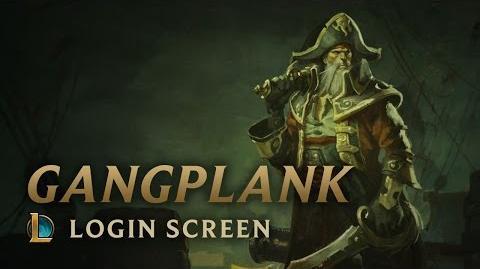 Kapitan Gangplank - ekran logowania