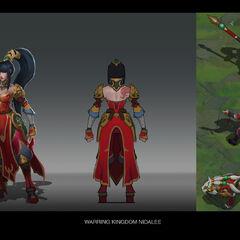 Warring Kingdoms Nidalee Concept (by Riot Artist <a href=