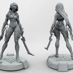 PROJECT: Katarina Model 1 (by  Riot Artist <a rel=