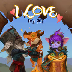 Kled Valentines Day 2017 Card Promo (by Riot Contracted Artist <a href=