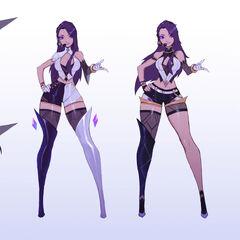 Concepto de Kai'Sa K/DA 1 (por el artista de Riot, <a class=