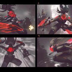 PROJECT: Akali Splash Concept 1 (by Riot Artist <a href=
