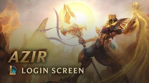 Azir - ekran logowania