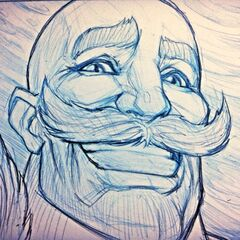Braum Sketch (by Riot Artist <a href=