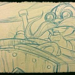 Corki Sketch (by Riot Artist <a href=