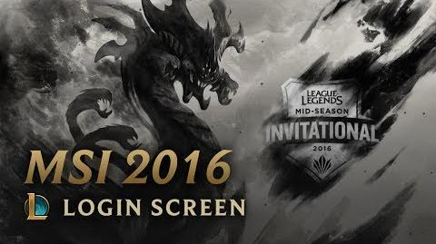 MSI 2016 - Login Screen