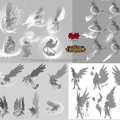 Xayah & Rakan concept 5 (by Riot Artist <a rel=
