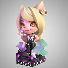 Modelo de la estatua de Ahri K/DA 1 (por los artistas de Riot de <a class=