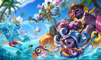 Poolparty- Skins Splash Konzept