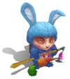 Teemo Cottontail (Aquamarine)