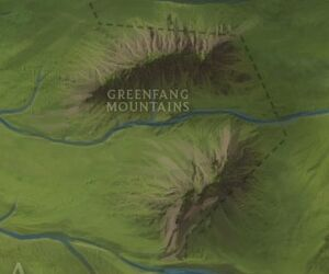 Greenfang Mountains map
