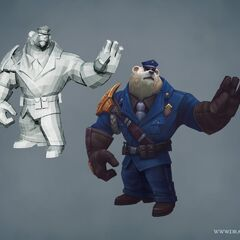 Captain Volibear Model (by Riot Artists <a href=