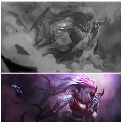 Blood Moon Diana Splash Concept (by Riot Artist <a href=