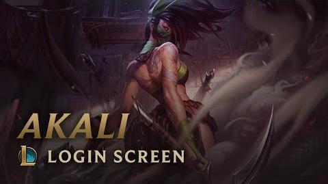 Akali, the Rogue Assassin - Login Screen