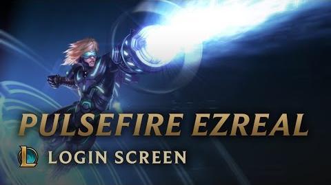 Cybernetyczny Ezreal - ekran logowania