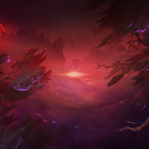 Hunt of the Blood Moon Loading background (by Riot Artist <a rel=