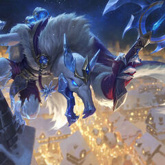Giant Poro balloons in the Ice King Twitch Splash