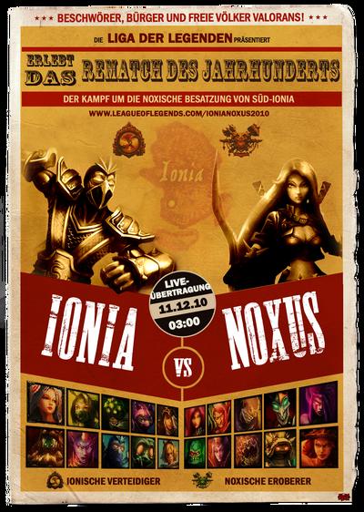 Ionia vs Noxus Poster