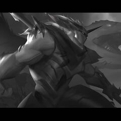 Dragon Knight Mordekaiser Update Splash Concept 1 (by Riot Contracted Artist <a rel=