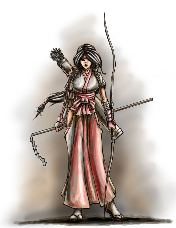 Nhan-Fiction Shrine Maiden Archer (Sketch) (1)