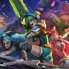 4 grafika konecepcyjna portretu Arcade