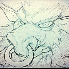 Alistar Sketch (by Riot Artist <a href=