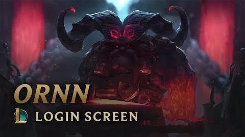 Ornn, der Gott der Vulkanschmiede - Login Screen