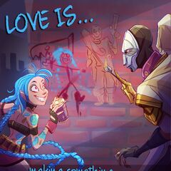 Jinx Valentines Day 2016 Card Promo (by Riot Contracted Artist <a href=