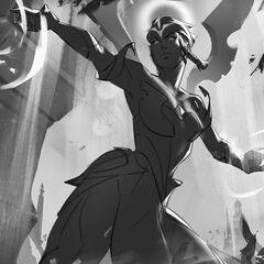 Dawnbringer Karma Splash Concept 2 (by Riot Contracted Artist <a href=