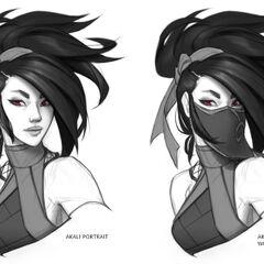 Concepto de la actualización de Akali 7 (por el artista de Riot, <a class=
