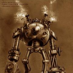 Grafika koncepcyjna Blitzcranka 1 (w wykonaniu Augiego Pagana)