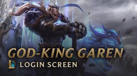 Boski Król Garen - ekran logowania