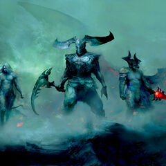 Varus, Rhaast and Aatrox presumably before becoming Darkin