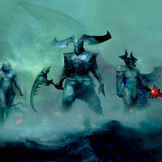 Varus, Rhaast and Aatrox presumably before becoming Darkin