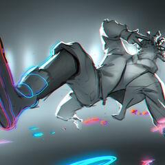 True Damage Ekko Splash Concept 4 (by Riot Artist <a href=