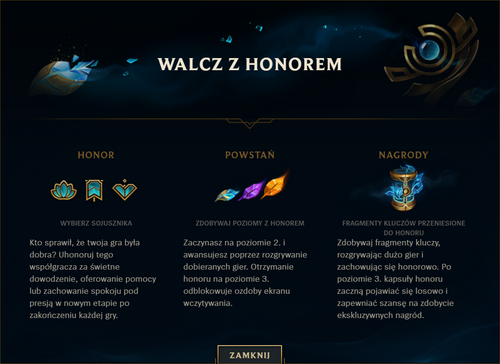 Nowy honor - start