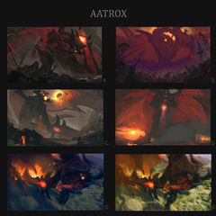 Aatrox Update Splash Concept 1 (by Riot Artist <a href=