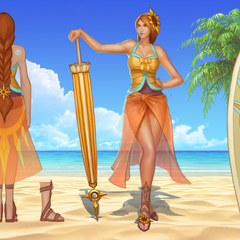 Pool Party Leona Concept 2 (by Riot Artist <a href=