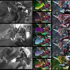 Super Galaxy Shyvana Splash Concept 1 (by Riot Artist <a href=