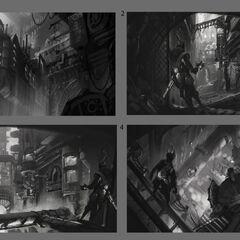 Zaun (Ekko trailer) concept art 1 (by Riot Artist <a rel=