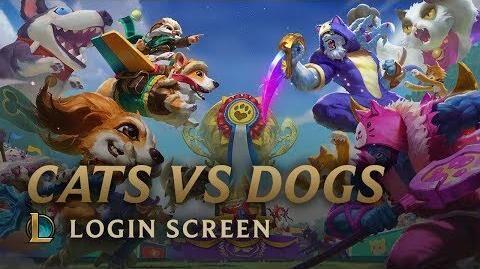Katzen gegen Hunde - Login Screen