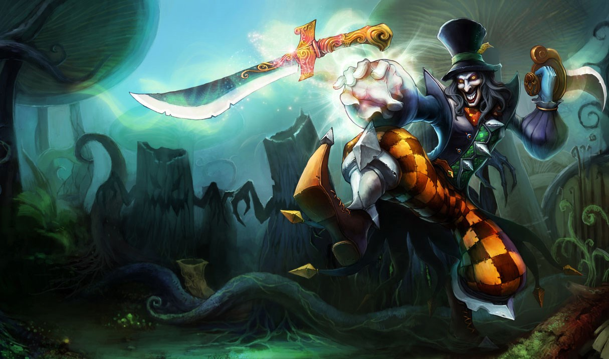 Shacoskins league of legends wiki fandom powered by wikia shaco madhatterskin voltagebd Gallery