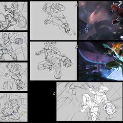 Arcade Ezreal Splash Concept (by Riot Artist <a href=