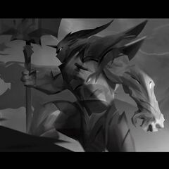 Dragon Knight Mordekaiser Update Splash Concept 2 (by Riot Contracted Artist <a rel=
