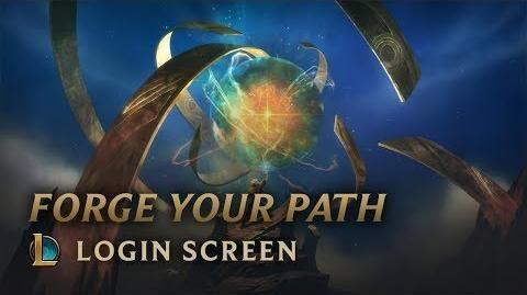 Finde deinen Pfad - Login Screen