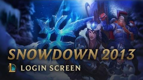 Snowdown Showdown 2013 - Login Screen