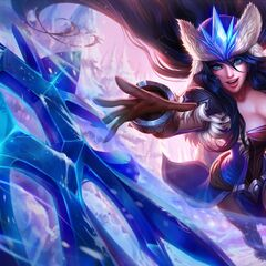 Poros in Snowstorm Sivir splash art (bottom half of the boomerang blade)