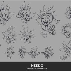 Koncept emotek Neeko 1 <small>(autor: <a class=