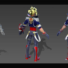 Battle Academia Ezreal Model 4 (by Riot Artist <a href=