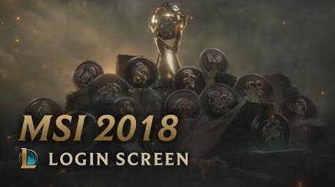 MSI 2018 - Login Screen